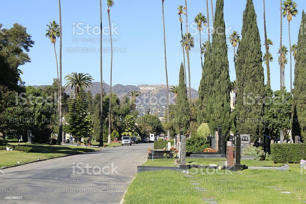 Hollywood Forever Cemetery stock photo