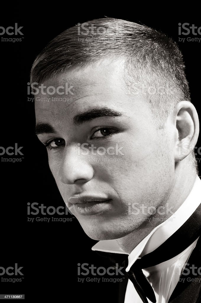 Hollywood inspired portrait. royalty-free stock photo