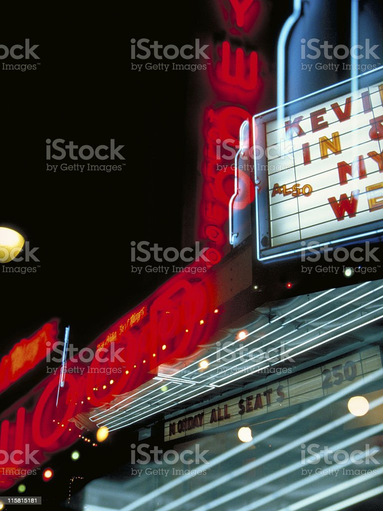 Hollywood lights stock photo