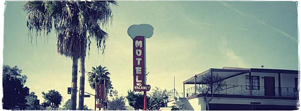 hollywood motel-vintage wygląd serii - motel zdjęcia i obrazy z banku zdjęć