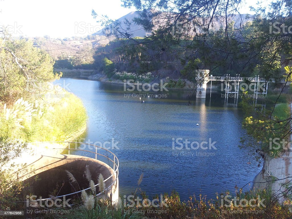 Hollywood reservoir / Hollywood lake stock photo