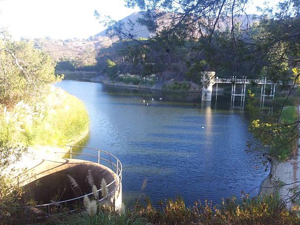 Hollywood reservoir / Hollywood lake stock photo