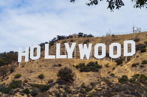 hollywood schriftzug in los angeles, kalifornien, usa - oscar filme stock-fotos und bilder