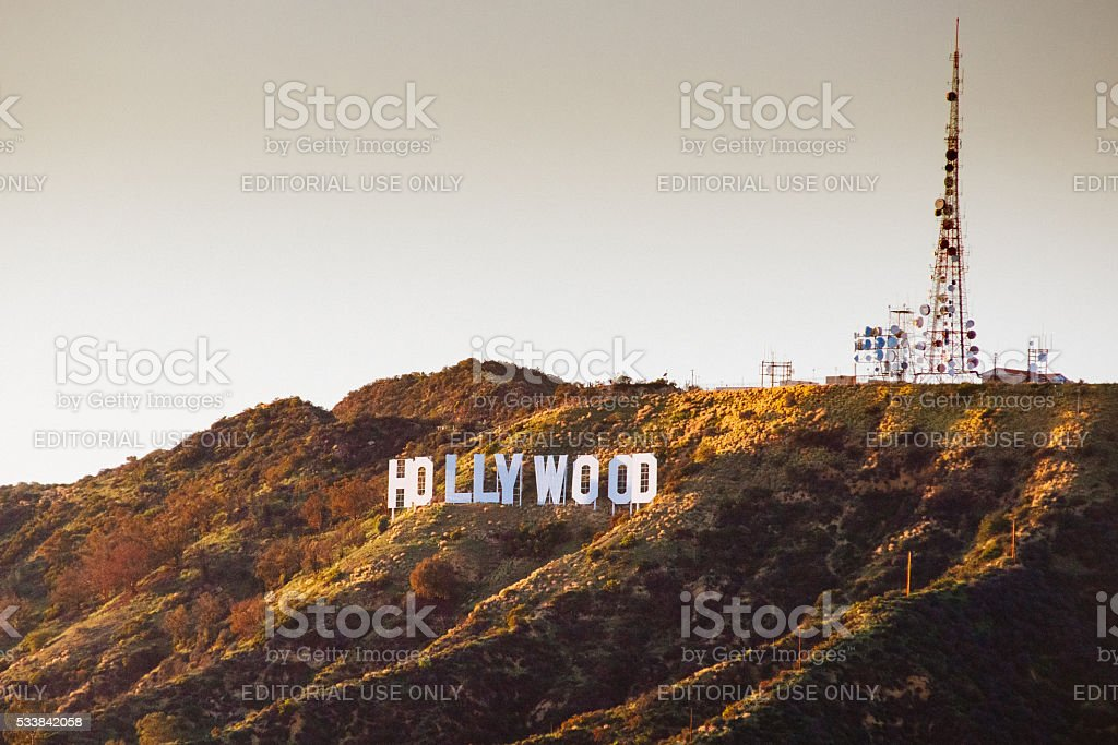 Hollywood Sign in Los Angeles stock photo