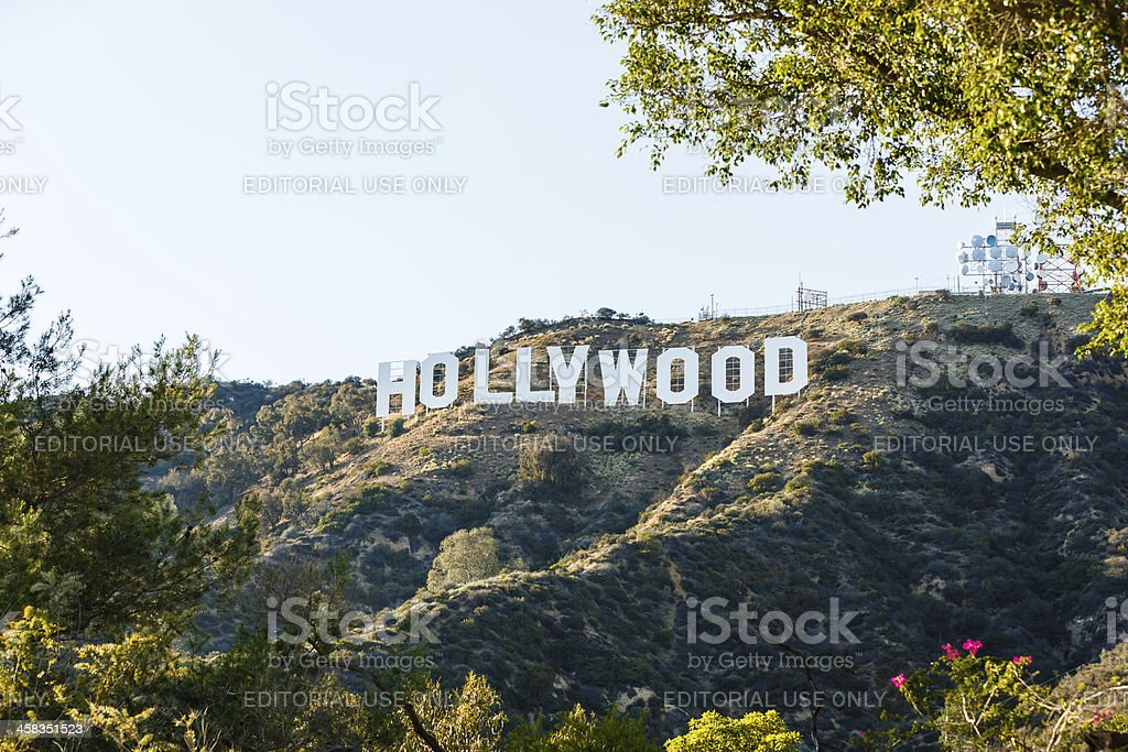 Hollywood sign, Los Angeles, California, USA stock photo