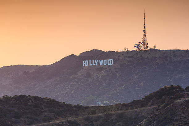 hollywood sign, los angeles, california, usa - international landmark stock photos and pictures
