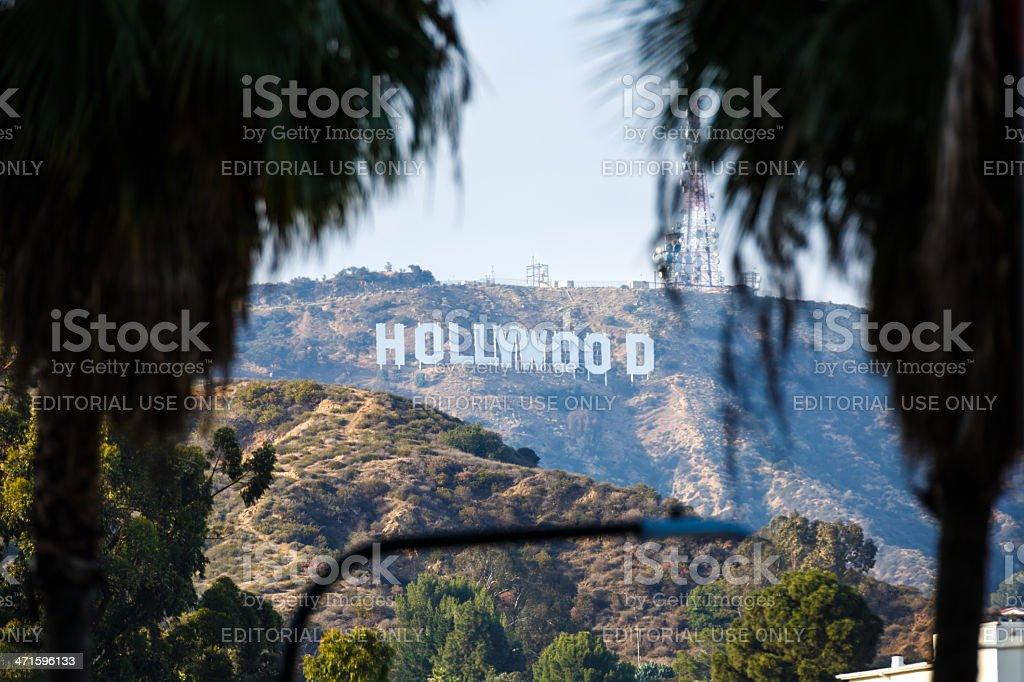 Hollywood sign, Los Angeles, California, USA royalty-free stock photo