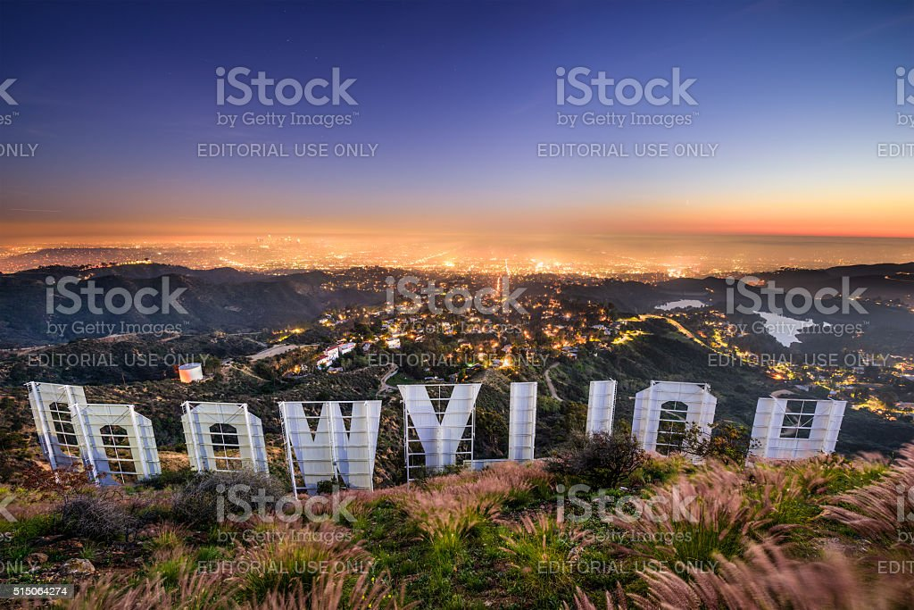 Hollywood Sign Los Angeles royalty-free stock photo