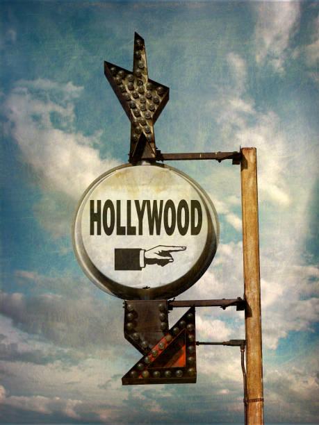 hollywood-skylten - celebrities of age bildbanksfoton och bilder