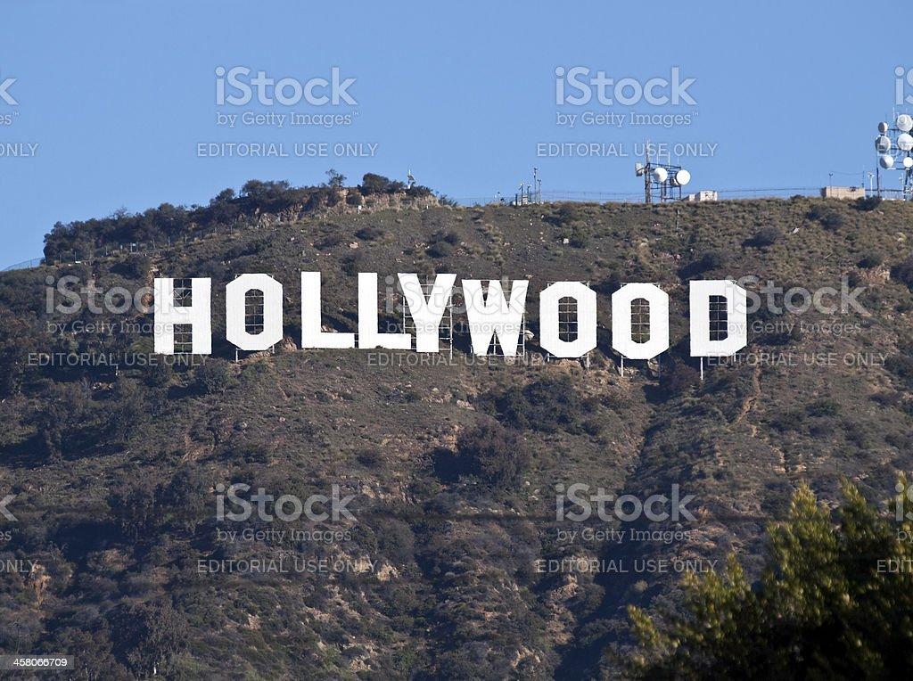 Hollywood Sign Tele stock photo