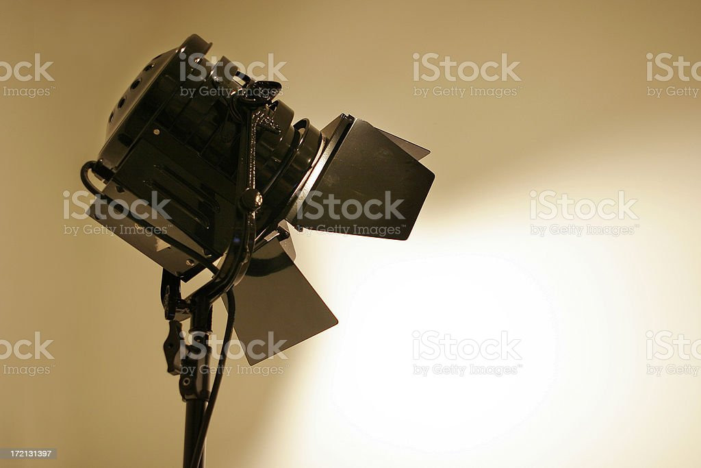 Hollywood Stage Lights royalty-free stock photo