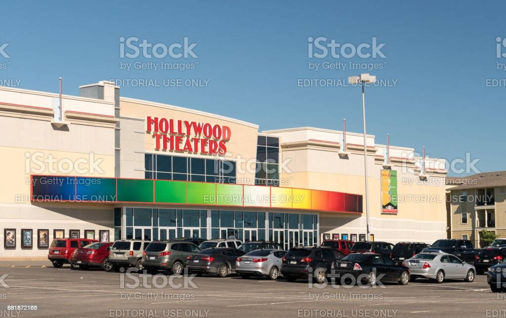 Hollywood Theaters building in Morgantown WV stock photo
