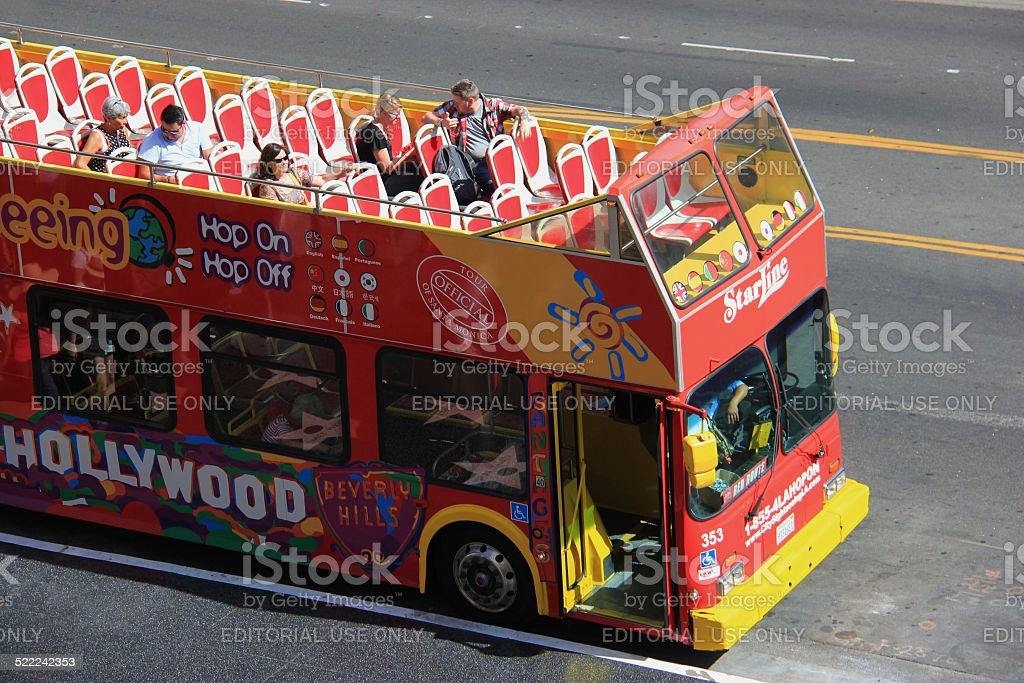 Hollywood Tour Bus stock photo