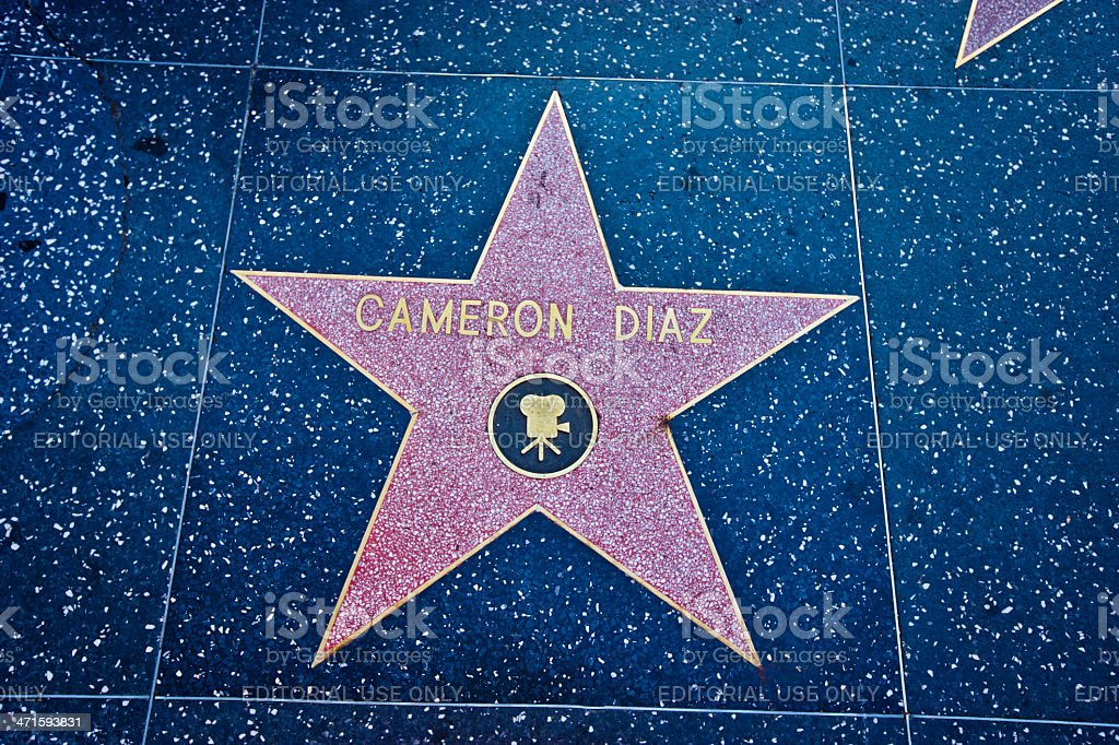 Hollywood Walk of Fame - Cameron Diaz stock photo