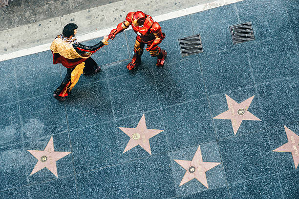 hollywood walk of fame in los angeles - elvis stock photos and pictures