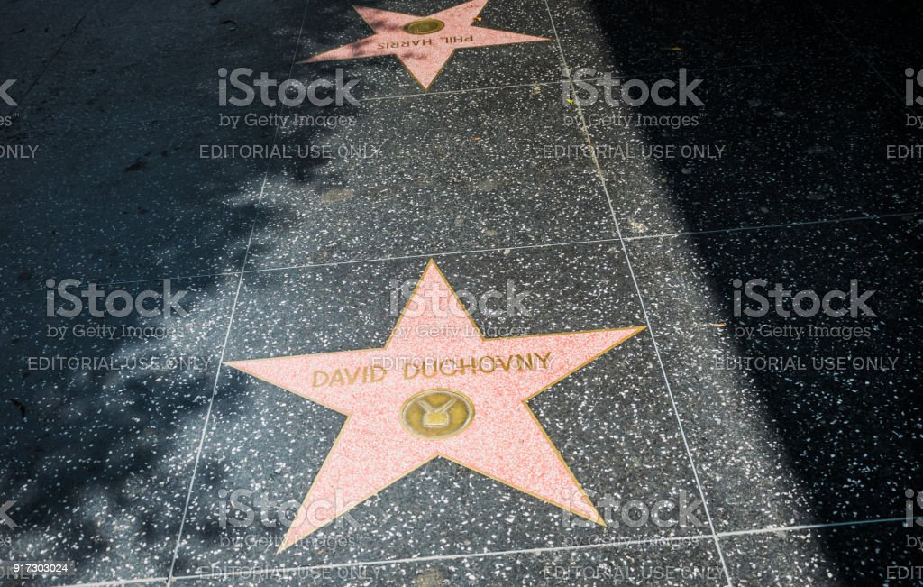 Hollywood Walk of Fame. Legendary Hollywood Celebrities stock photo