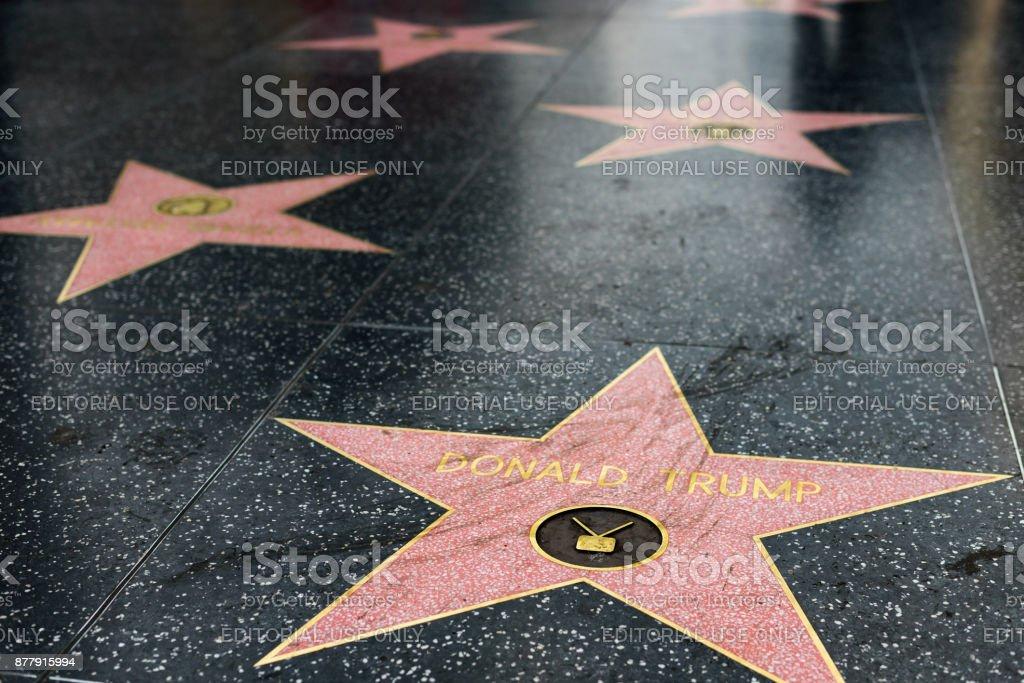 Paseo de la Fama de Hollywood - foto de stock