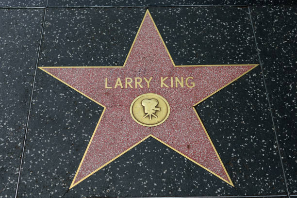 Hollywood Walk of Fame HOLLYWOOD, CA - DECEMBER 06: Larry King star on the Hollywood Walk of Fame in Hollywood, California on Dec. 6, 2016. larry king stock pictures, royalty-free photos & images