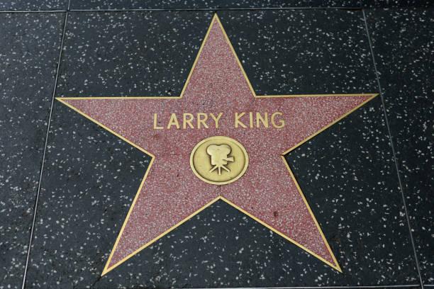 hollywood walk of fame - larry king стоковые фото и изображения