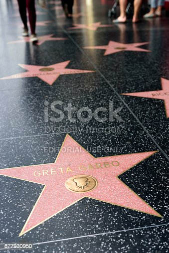 HOLLYWOOD, CA - DECEMBER 06: Greta Garbo star on the Hollywood Walk of Fame in Hollywood, California on Dec. 6, 2016.