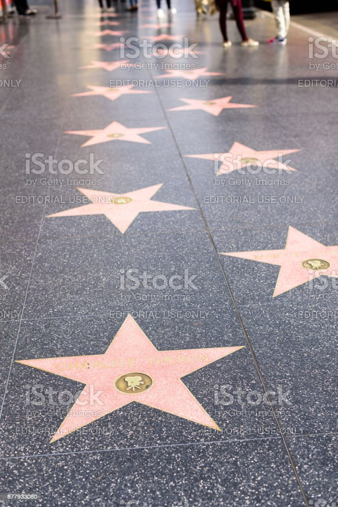 Paseo de la Fama de Hollywood - foto de stock