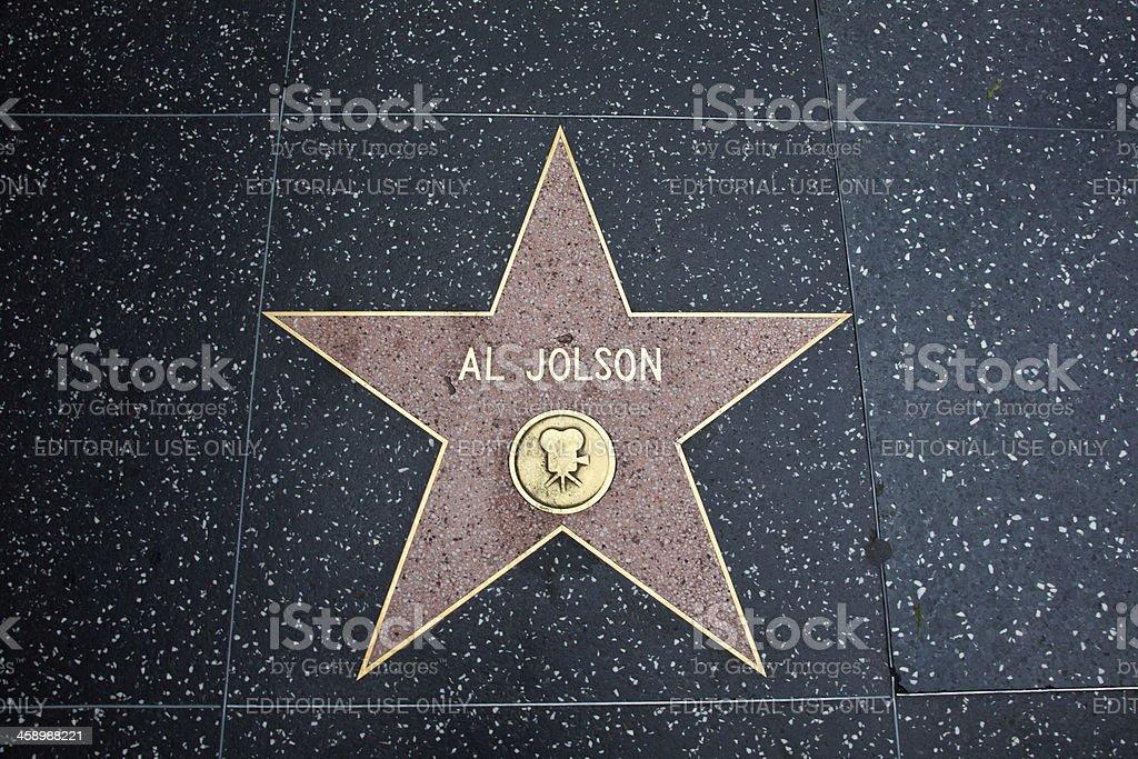 Hollywood Walk Of Fame Star Al Jolson stock photo
