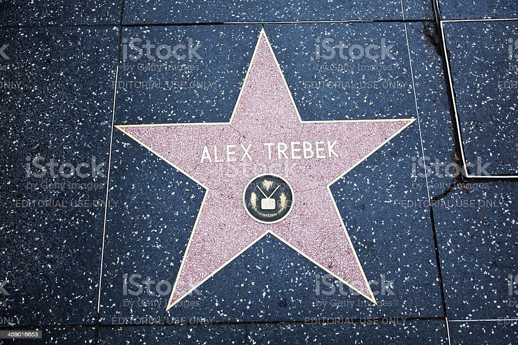 "Hollywood Walk Of Fame Star Alex Trebek ""Hollywood, California, USA - February 5, 2013: Hollywood Walk Of Fame Alex Trebek achievement in the entertainment industry star."" Achievement Stock Photo"