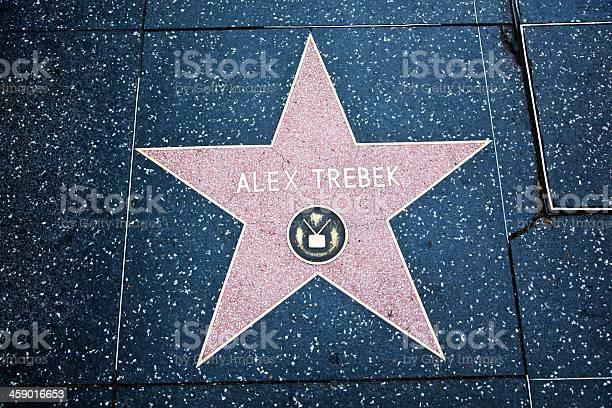 Hollywood Walk Of Fame Star Alex Trebek Stock Photo - Download Image Now