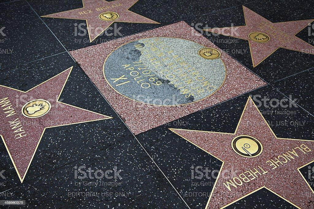 Hollywood Walk Of Fame Star Apollo XI stock photo