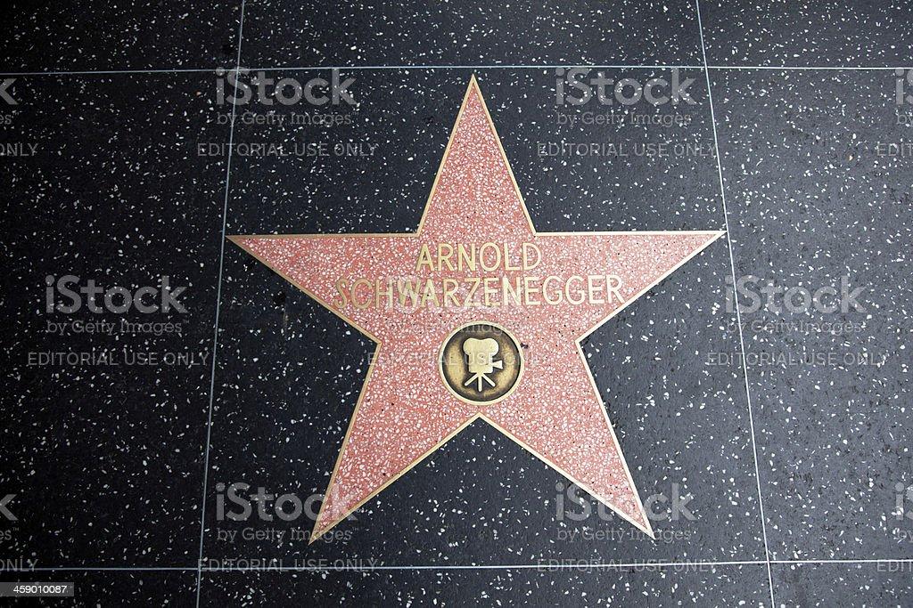 Hollywood Walk Of Fame Star Arnold Schwarzenneger - foto de acervo