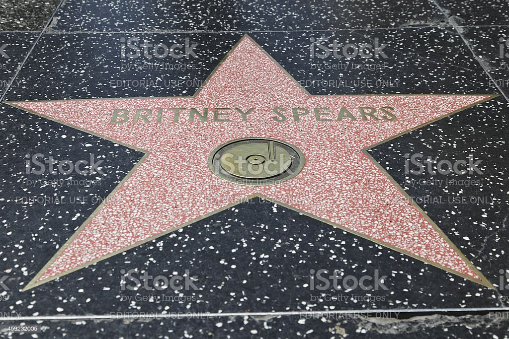 Hollywood Walk of Fame Star Britney Spears stock photo