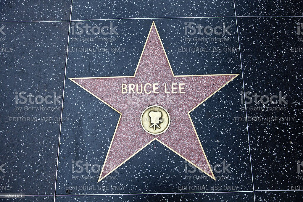 Calçada da fama de Hollywood Star Bruce Lee - foto de acervo
