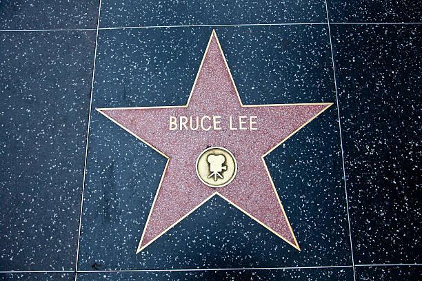 Calçada da fama de Hollywood Star Bruce Lee - foto de acervo