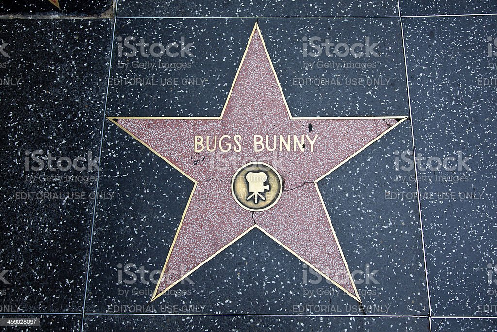 Hollywood Walk Of Fame Star Bugs Bunny stock photo