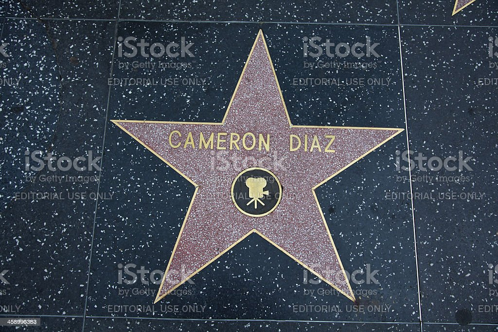 Hollywood Walk Of Fame Star Cameron Diaz stock photo