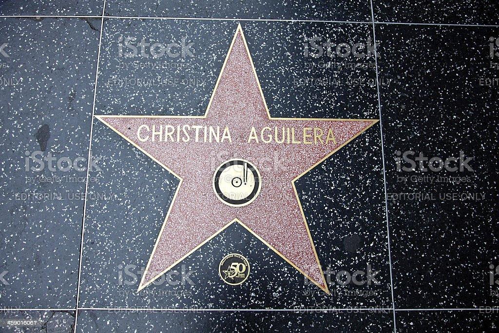 Hollywood Walk Of Fame Star Christina Aguilera stock photo