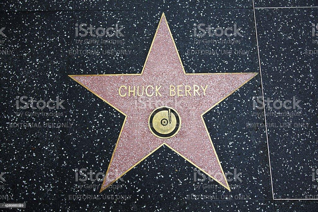 Paseo de la Fama de Hollywood Star Chuck Berry - Foto de stock de Acera libre de derechos