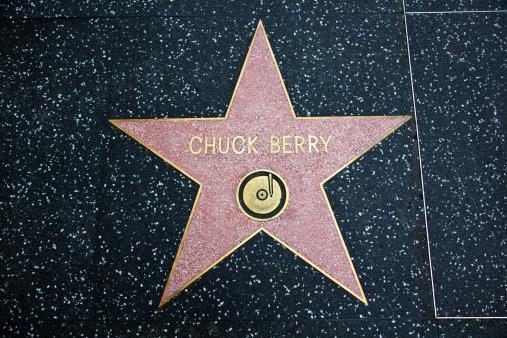 Paseo De La Fama De Hollywood Star Chuck Berry Foto de stock y más banco de imágenes de Acera