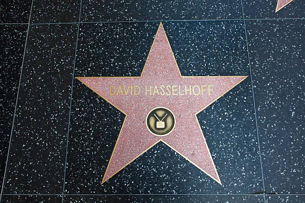hollywood walk of fame star david hassselhoff - david hasslehoff stock-fotos und bilder