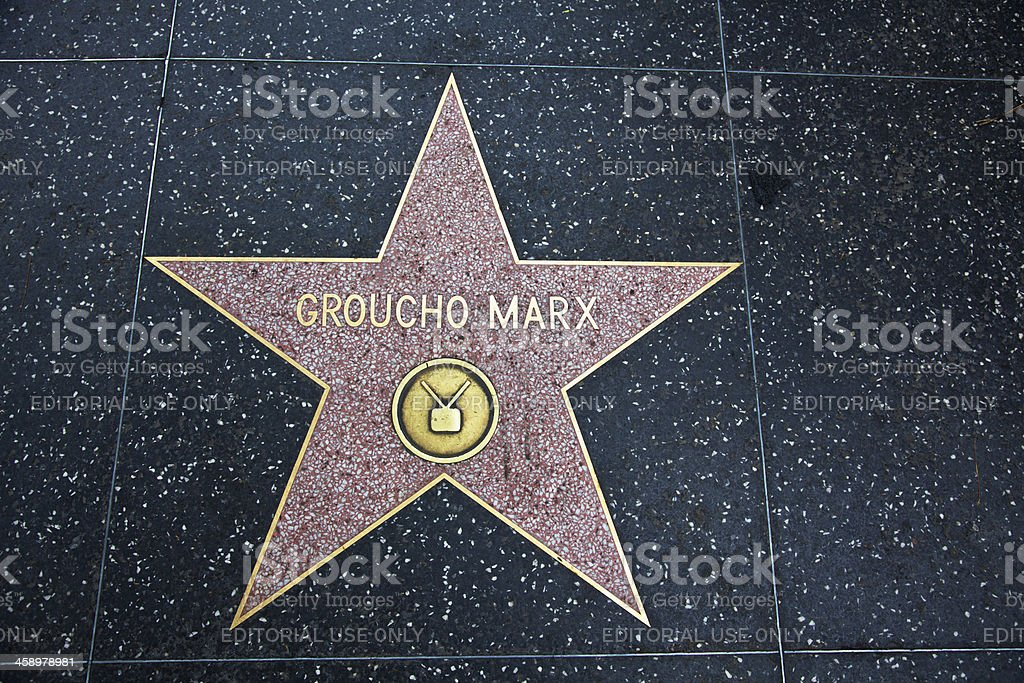 Hollywood Walk Of Fame Star Groucho Marx stock photo