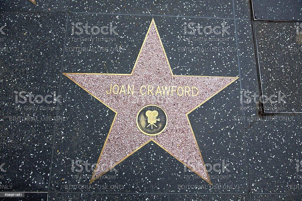 Hollywood Walk Of Fame Star Joan Crawford stock photo