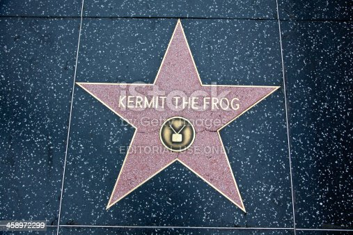 istock Hollywood Walk Of Fame Star Kermit The Frog 458972299