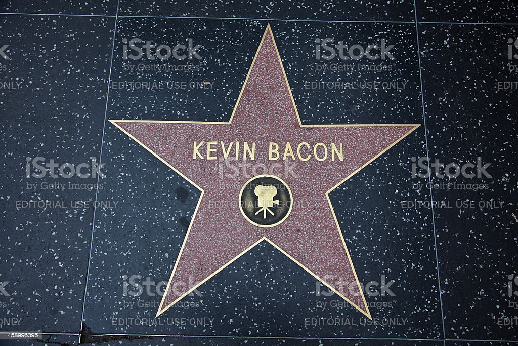Hollywood Walk Of Fame Star Kevin Bacon stock photo