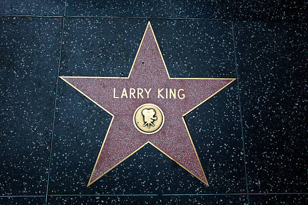 hollywood walk of fame star larry king - larry king 個照片及圖片檔