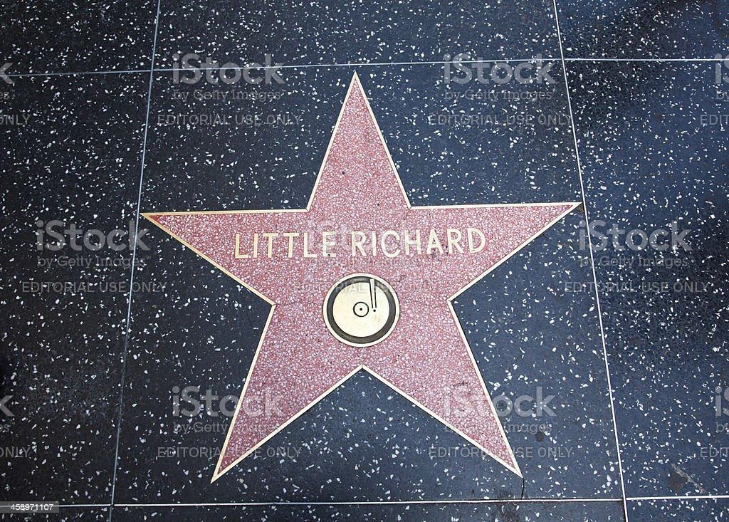 Hollywood Walk Of Fame Star Little Richard stock photo