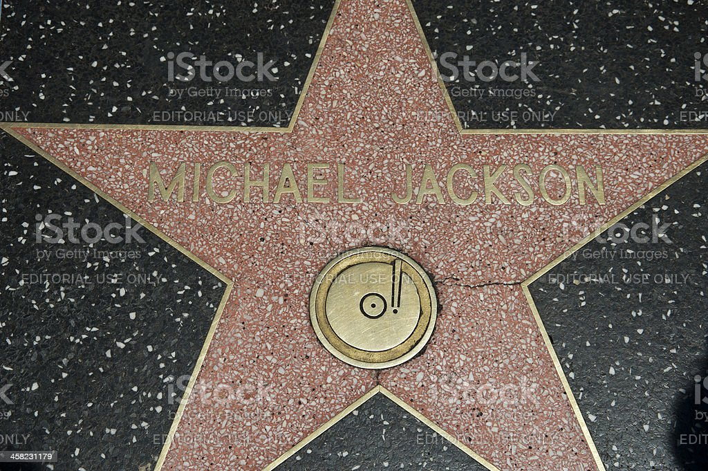 Hollywood Walk Of Fame Star Michael Jackson stock photo