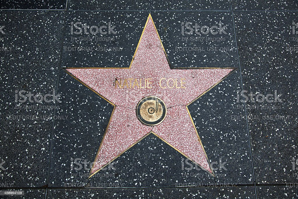 Hollywood Walk Of Fame Star Natalie Cole stock photo