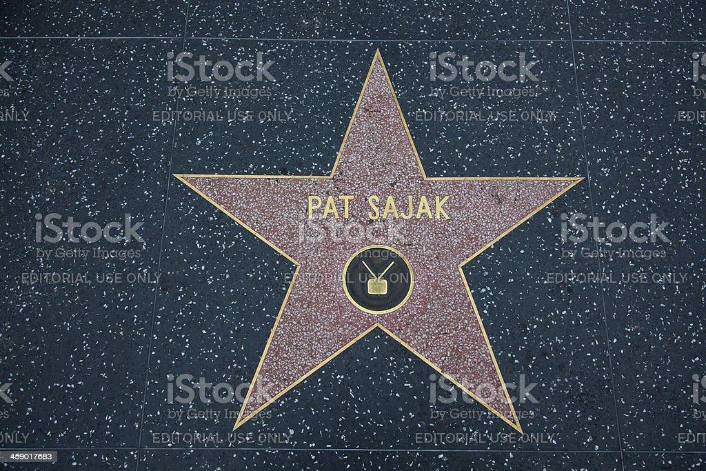 Hollywood Walk Of Fame Star Pat Sajak stock photo
