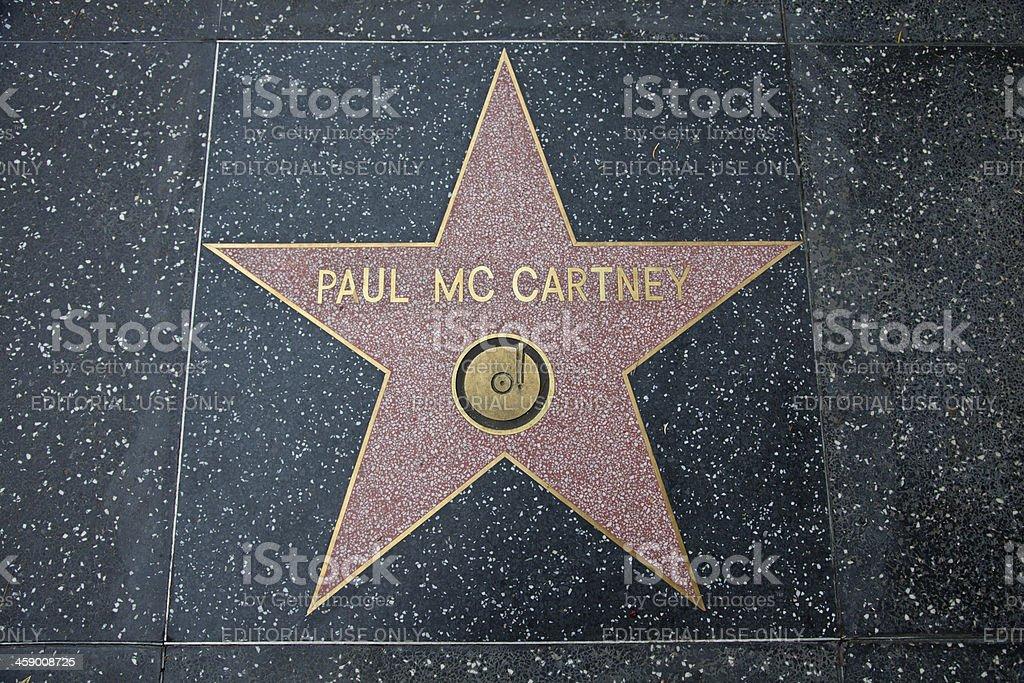 Hollywood Walk Of Fame Star Paul McCartney stock photo