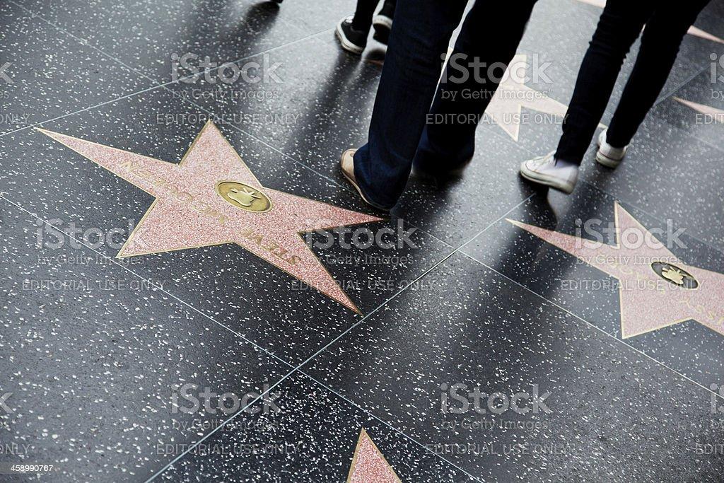 Hollywood Walk Of Fame-Sterne Lizenzfreies stock-foto